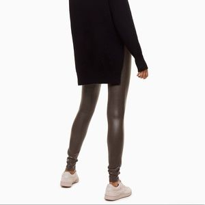 Aritzia Faux-Leather Leggings